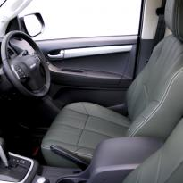Isuzu dmax huntsman green with white stitching 007