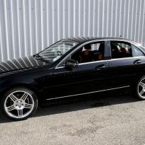 Mercedes 204 C-Class Sport Black Leather With Orange Sections & Stitching 4