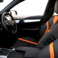 Mercedes 204 C-Class Sport Black Leather With Orange Sections & Stitching 5