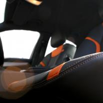 Mercedes 204 C-Class Sport Black Leather With Orange Sections & Stitching 8