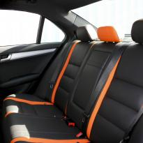 Mercedes 204 C-Class Sport Black Leather With Orange Sections & Stitching 9
