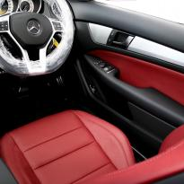 Merc 204 c-class coupe sport flamenco red 007
