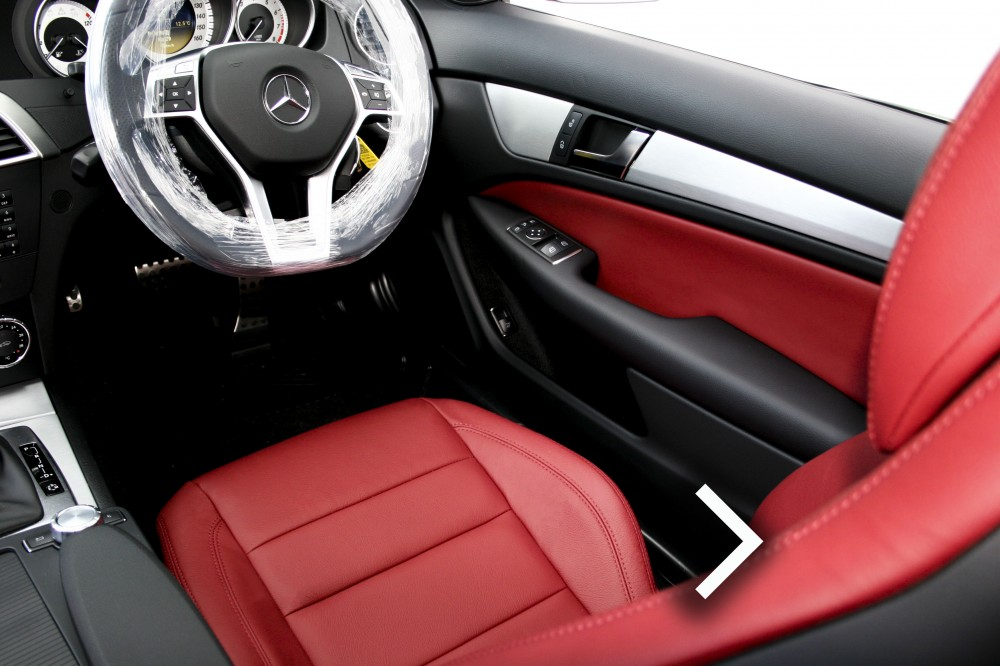 mercedes c class leather seats automotive leather specialists trim technik. Black Bedroom Furniture Sets. Home Design Ideas