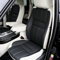 Rangerover sport autobiography ivory nappa with black nappa inserts  stitching 003