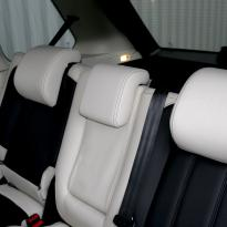 Rangerover sport autobiography ivory nappa with black nappa inserts  stitching 007