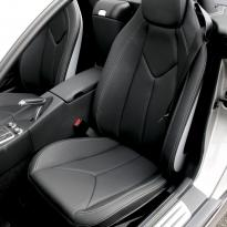 Merc 171 slk roadster black with silver stitching 003