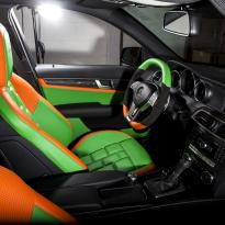 Mercedes cclass 204 c63 amg orange  green leather seats10