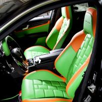 Mercedes cclass 204 c63 amg orange  green leather seats5