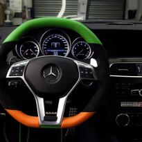 Mercedes cclass 204 c63 amg orange  green leather seats 7
