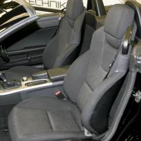 Mercedes slk roadster black leather white stitching