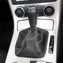 Roadster black leather white stitching 10