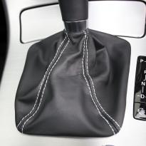 Roadster black leather white stitching 9