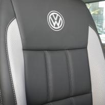 Volkswagen california campervan grey leather with perforated inserts 019