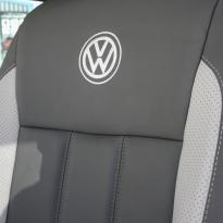 Volkswagen california campervan grey leather with perforated inserts 020