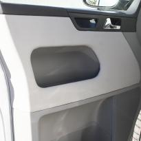 Volkswagen california campervan grey leather with perforated inserts 025