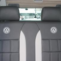 Volkswagen california campervan grey leather with perforated inserts 028
