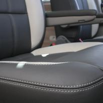 Volkswagen california campervan grey leather with perforated inserts 030