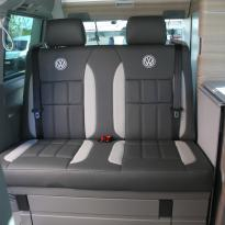 Volkswagen california campervan grey leather with perforated inserts 031