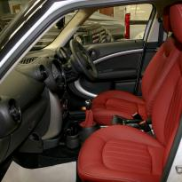Mini clubman red leather seats 6