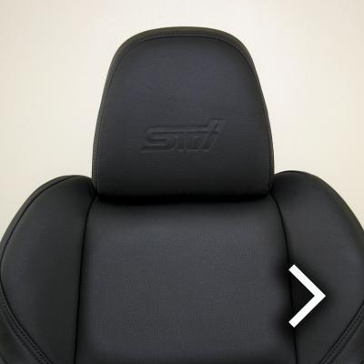 Subaru wr sti black leather seat