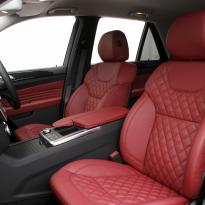 Merc 166 ml sport dark red nappa quilted with black stitching 004