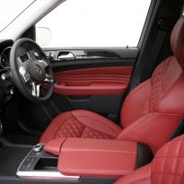 Merc 166 ml sport dark red nappa quilted with black stitching 005