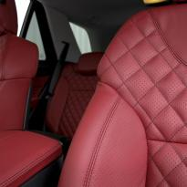 Merc 166 ml sport dark red nappa quilted with black stitching 008