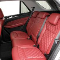 Merc 166 ml sport dark red nappa quilted with black stitching 009