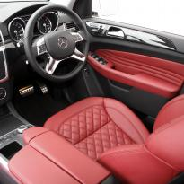 Merc 166 ml sport dark red nappa quilted with black stitching 012