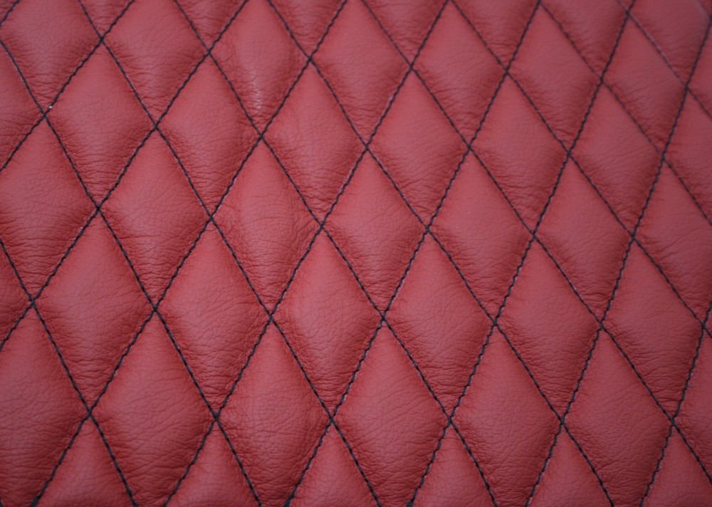 Quilted Leather Seat Swatch Trim Technik