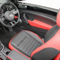 Beetle cabriolet design black with red outer boarders(5)