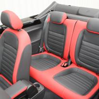 Beetle cabriolet design black with red outer boarders(7)