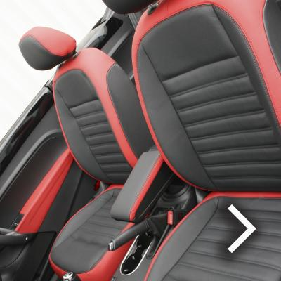 Beetle cabriolet design black with red outer boarders