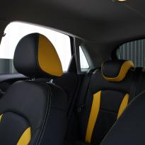 Audi a1 sptback se black with yellow inserts(6)