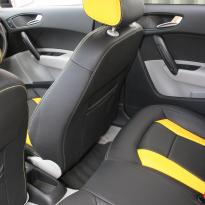 Audi a1 sptback se black with yellow inserts(9)