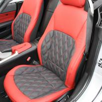 Bmw e89 z4 roadster black with quilted red inserts(2)