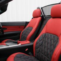 Bmw e89 z4 roadster black with quilted red inserts(3)