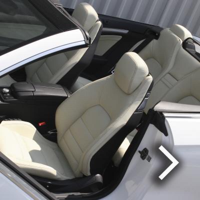 Mercedes benz e-class cabriolet sport dakota grain leather in lemon yellow