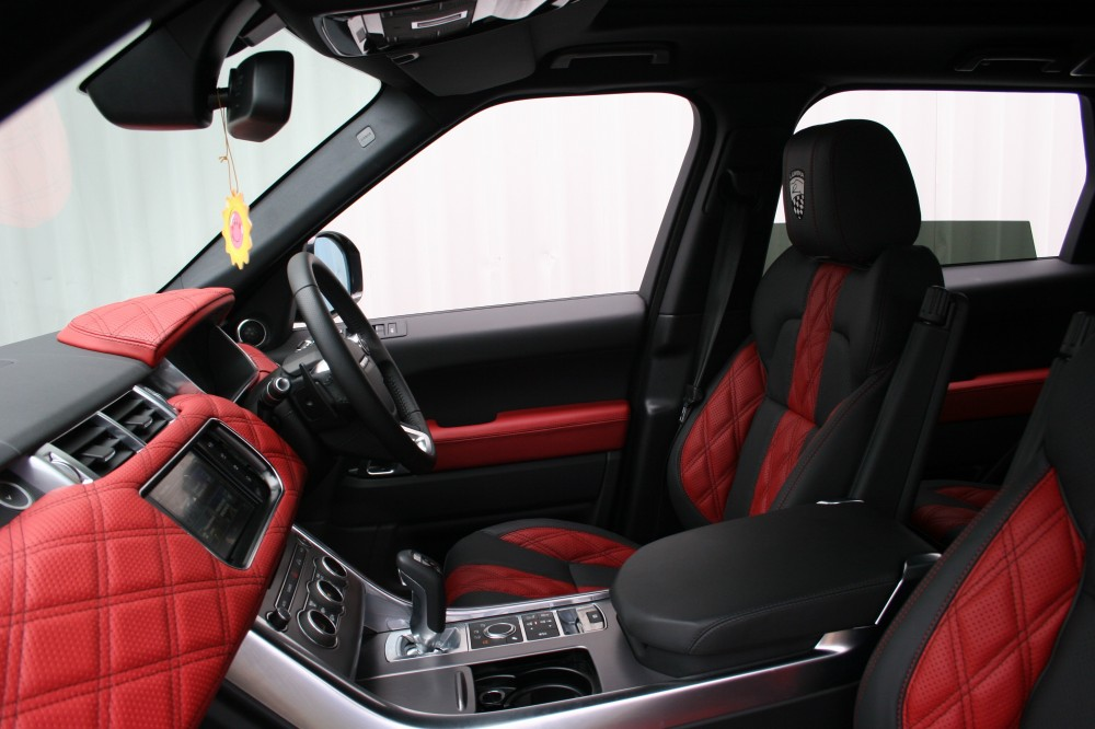 Range rover sport lumma clr sv pimento red ebong windsor for Interieur voiture de luxe