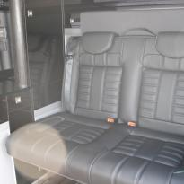 Vw t5 van with rib 11z rear seat black with purple and green stitch(5)