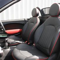 Mini r59 roadster spt lounge black with red piping(4)