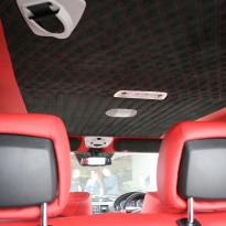 Mercedes benz g wagon classic red nappa leather and black alcantara inserts with bespoke quilting(19)