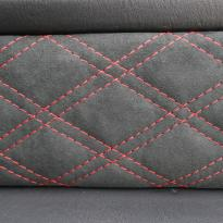 Mercedes benz g wagon classic red nappa leather and black alcantara inserts with bespoke quilting(47)