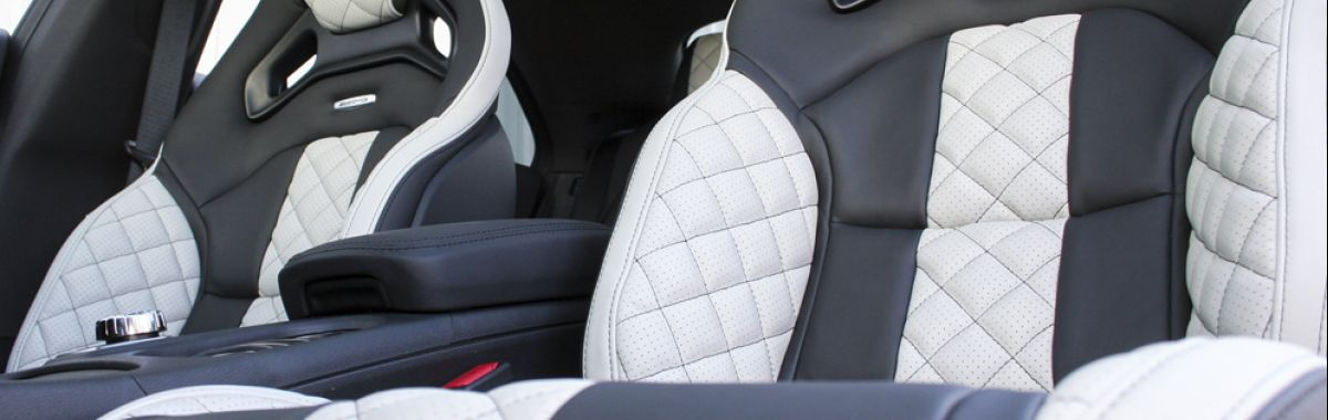 Merc 117 cla 45 amg black nappa with portland grey quilted sections
