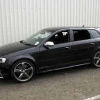 Audi rs3 sportback black leather with silver stitching 001