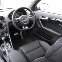 Audi rs3 sportback black leather with silver stitching 006