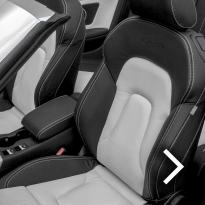 Audi a5 cab s-line black  white leather thumbnail