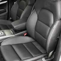 Audi a6 saloon s-line tl black leather with white stitching 002