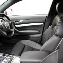 Audi a6 saloon s-line tl black leather with white stitching 003