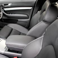 Audi a6 saloon s-line tl black leather with white stitching 007